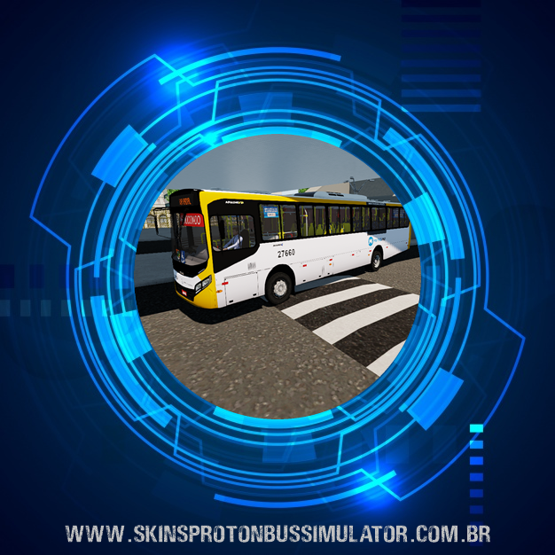 Skin Proton Bus Simulator - Apache VIP IV MB OF-1721 BT5 Metrô na Superfície