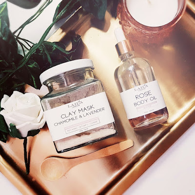 Laila Clay Mask and Rose Body Oil