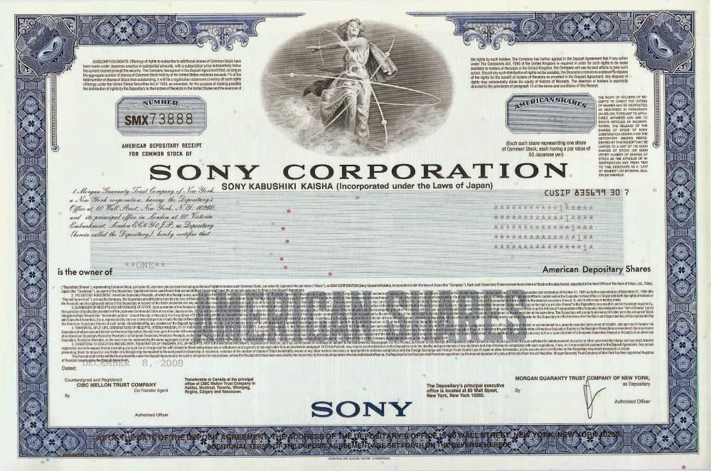 American Depositary Receipt - ADR