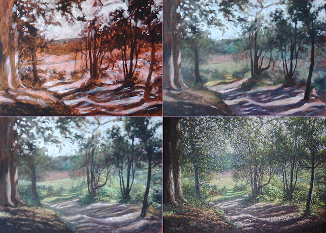oil painting new Forest WIP build up Davey