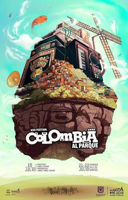 POSTER XVII Festival COLOMBIA AL PARQUE | 2018