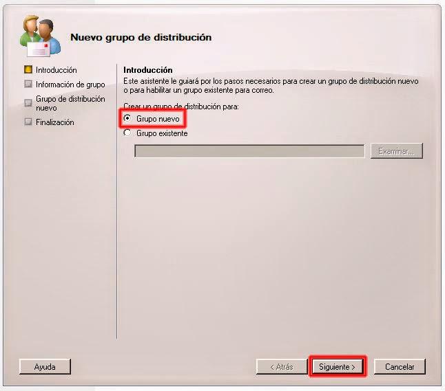 Grupo de distribución nuevo - Introducción.