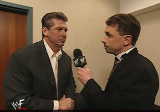 WWE / WWF Wrestlemania 2000 - Michael Cole interviews Vince McMahon