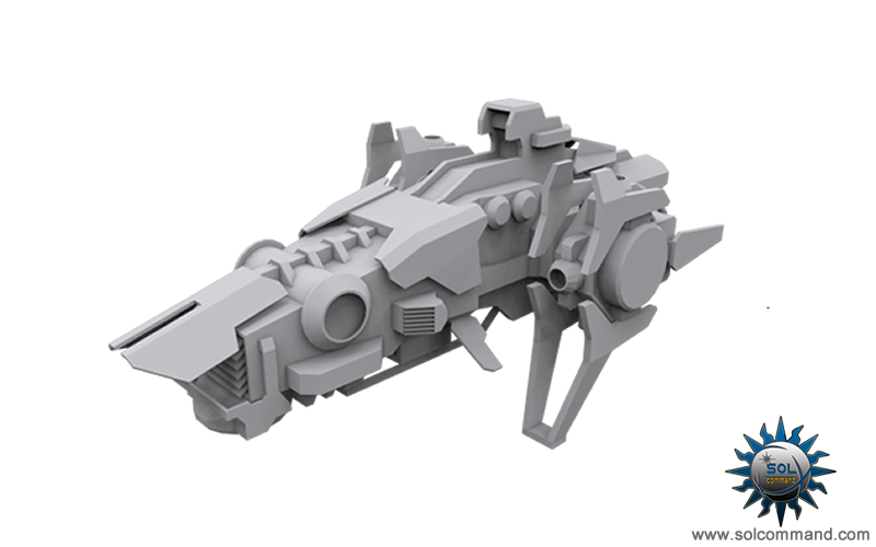 heavy fighter combat drones space ships ai controlled artificial intelligence combat warships 3d model original concept solcommand