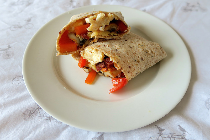 uk scottish lifestyle blogger make ahead freezer breakfast burritos