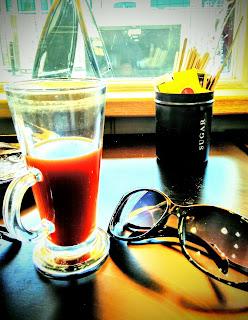 Lisa Southard, writer, coffee drinker, cafe writing, work in progress