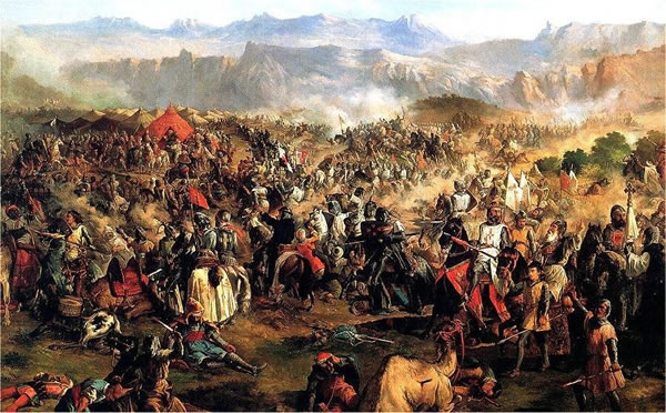Battle of Las Navas de Tolosa in Andalusia in the year 1212