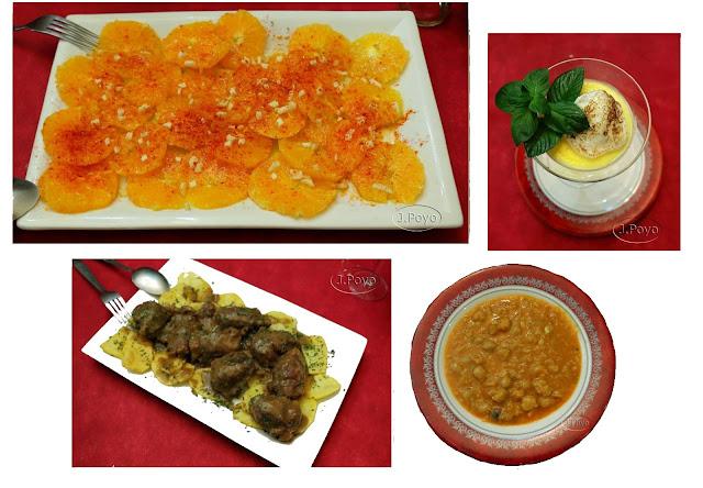 Comida del restaurante Os arcus, San Martín de Tevejo.