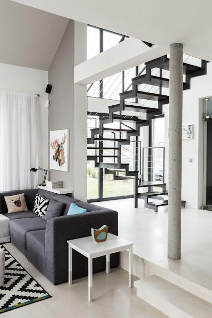 белый интерьер гостиной комнаты