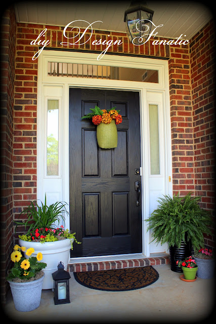 front porch, porch makeover, Spring, Flower pots