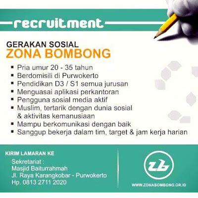 Rekrutmen Staff di Zona Bombong Purwokerto