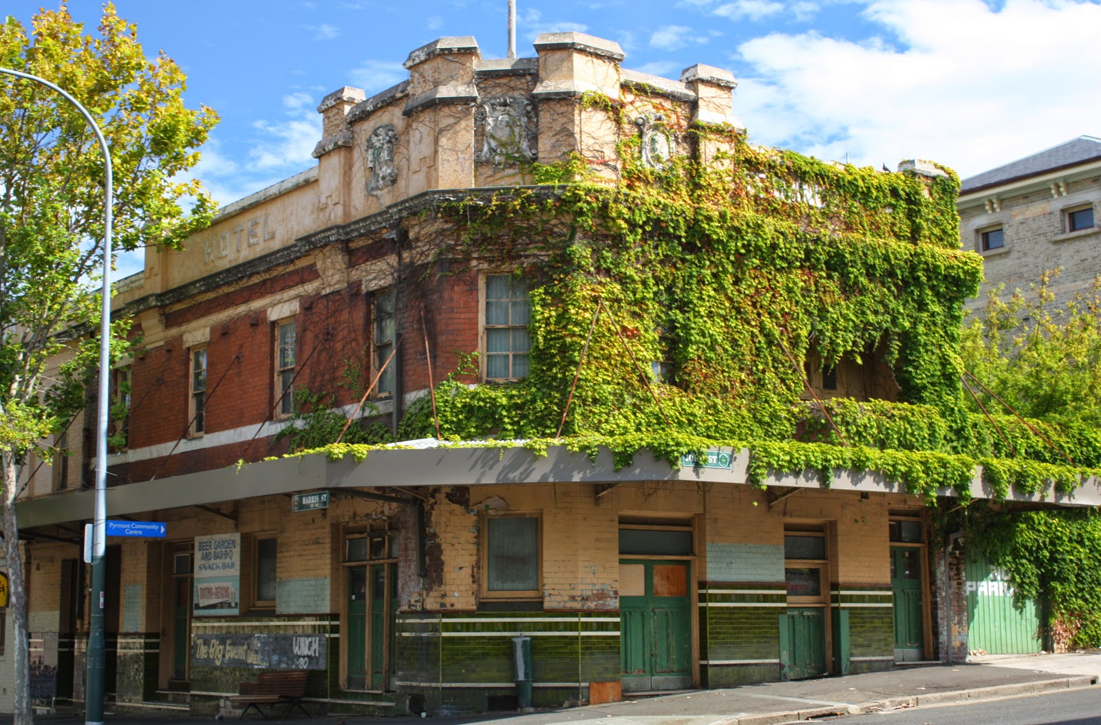The Former Terminus Hotel Is Located On Corner Of Harris Street And John In Inner West Suburb Pyrmont This Heritage Listed Pub Was Built