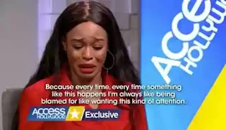Azealia Banks cries on access Hollywood