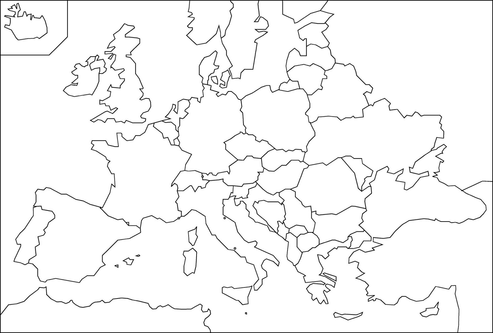 Europa Centrale Cartina Muta.Cartina Muta Europa Con Stati