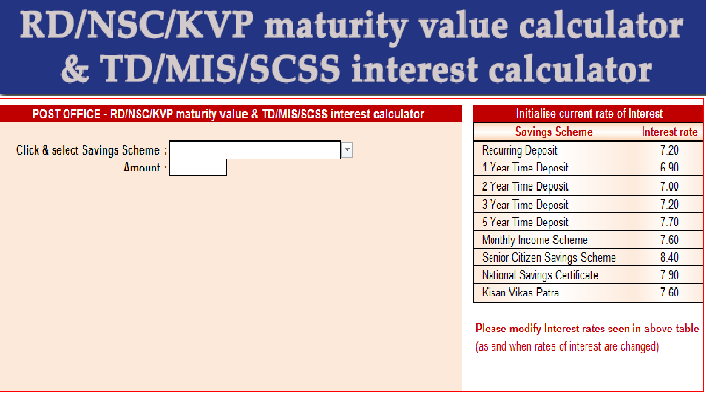 Know rate of accrued interest on nsc (national saving certificate.