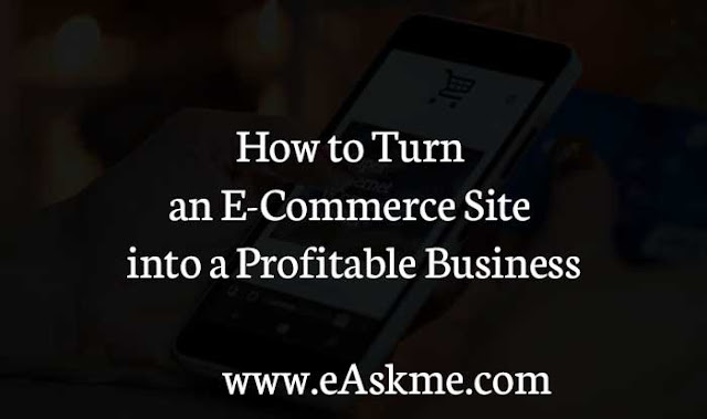 How to Turn an E-Commerce Site into a Profitable Business: eAskme