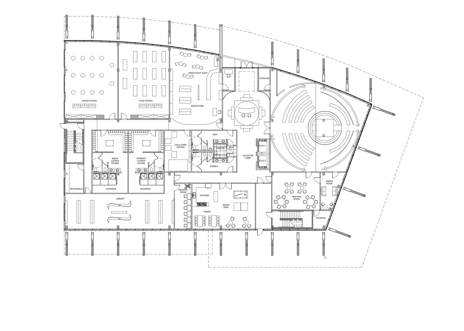 Greensphere Wellness Center Revised Floor Plan First And