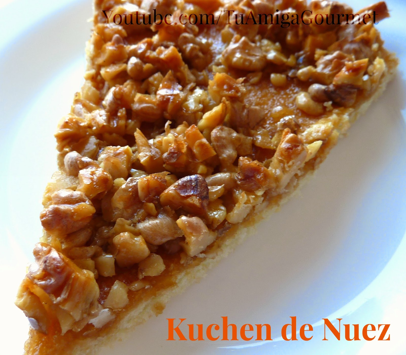 Receta: Kuchen de Nuez o Nueces