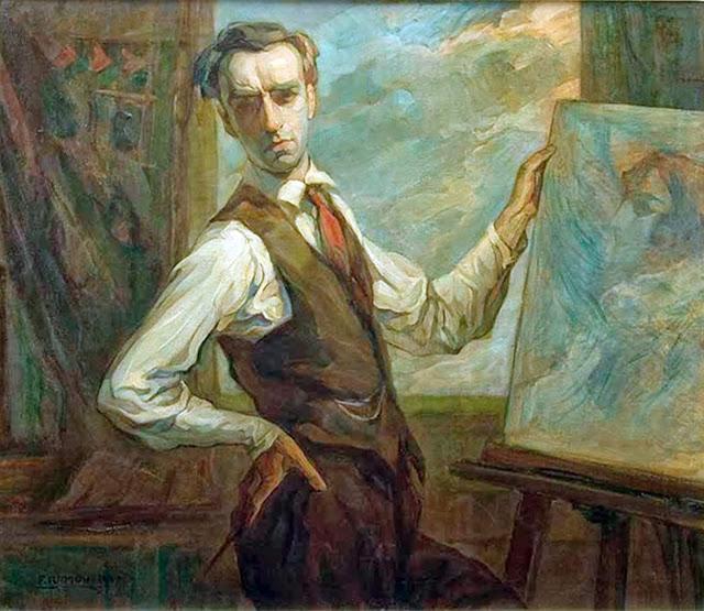 Francisco Ramoneda, Self Portrait, Portraits of Painters, Fine arts, Portraits of painters blog, Paintings of Francisco Ramoneda, Painter Francisco Ramoneda