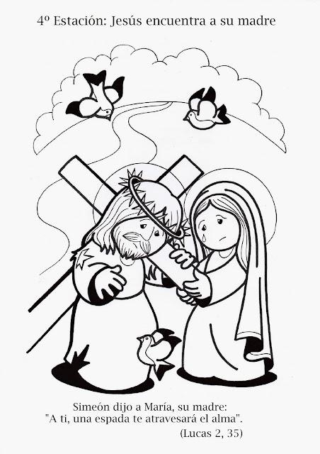 Parroquia La Inmaculada: Viacrucis para nios: colorear y