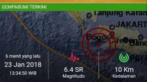 Gempa bumi Banten 23 Januari 2018