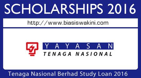 Tenaga Nasional Berhad Study Loan 2016
