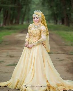 gaun pengantin muslimah big size
