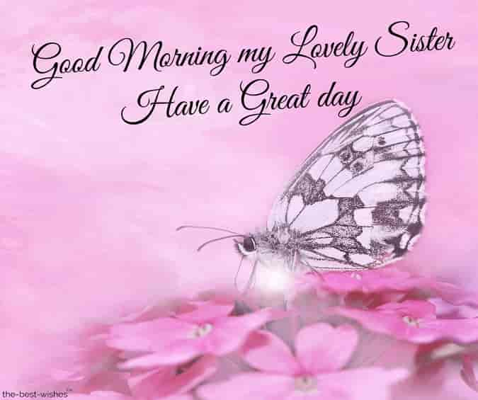 good morning my lovely sister have a great day