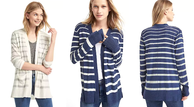 Gap Striped Open-Front Cardigan $18 (reg $55)