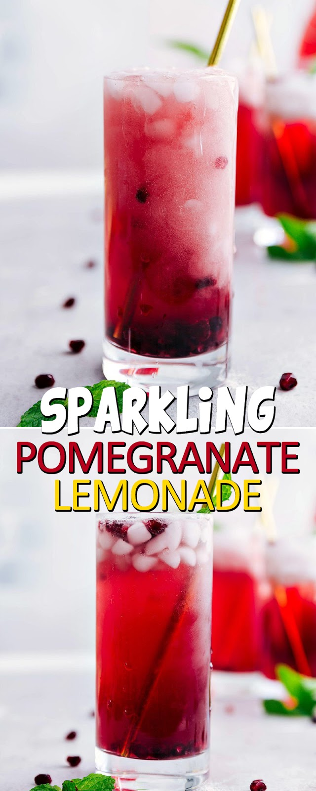 SPARKLING POMEGRANATE LEMONADE