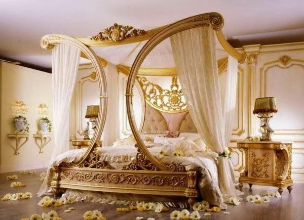 chambre romantique moderne - idées déco moderne