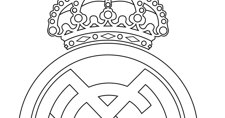 Dibujos Del Real Madrid Para Imprimir Y Colorear: Tartas Para Niños: ESCUDOS DE FUTBOL PARA TARTAS O COLOREAR