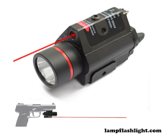 Feyachi Red Laser Flashlight Combo with Compact Rail Mount for Pistol Handgun