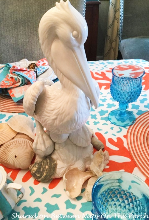 Ceramic Pelican Figurine Tabletop Decor Entertaining