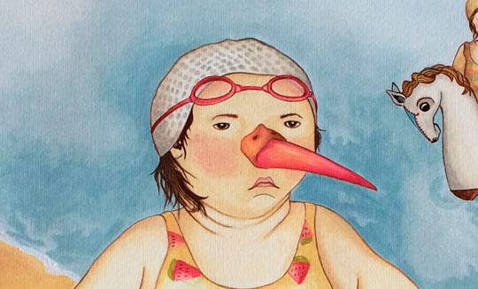 Ilustración, Bañista de Natalia Tobón Agudelo