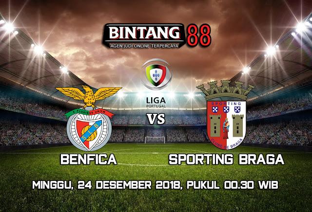 Prediksi Benfica vs Sporting Braga 24 Desember 2018