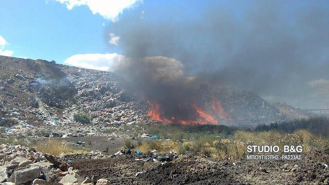 Πυρκαγιά στη χωματερή της Νέας Κίου