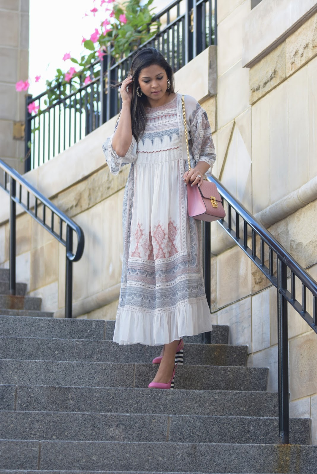 how to design your own shoes, pink heels, stripes sandals, fall fashion , chunky heels, black and white shoes, street style, fashion , blogger, shoes of prey creator, myriad musings