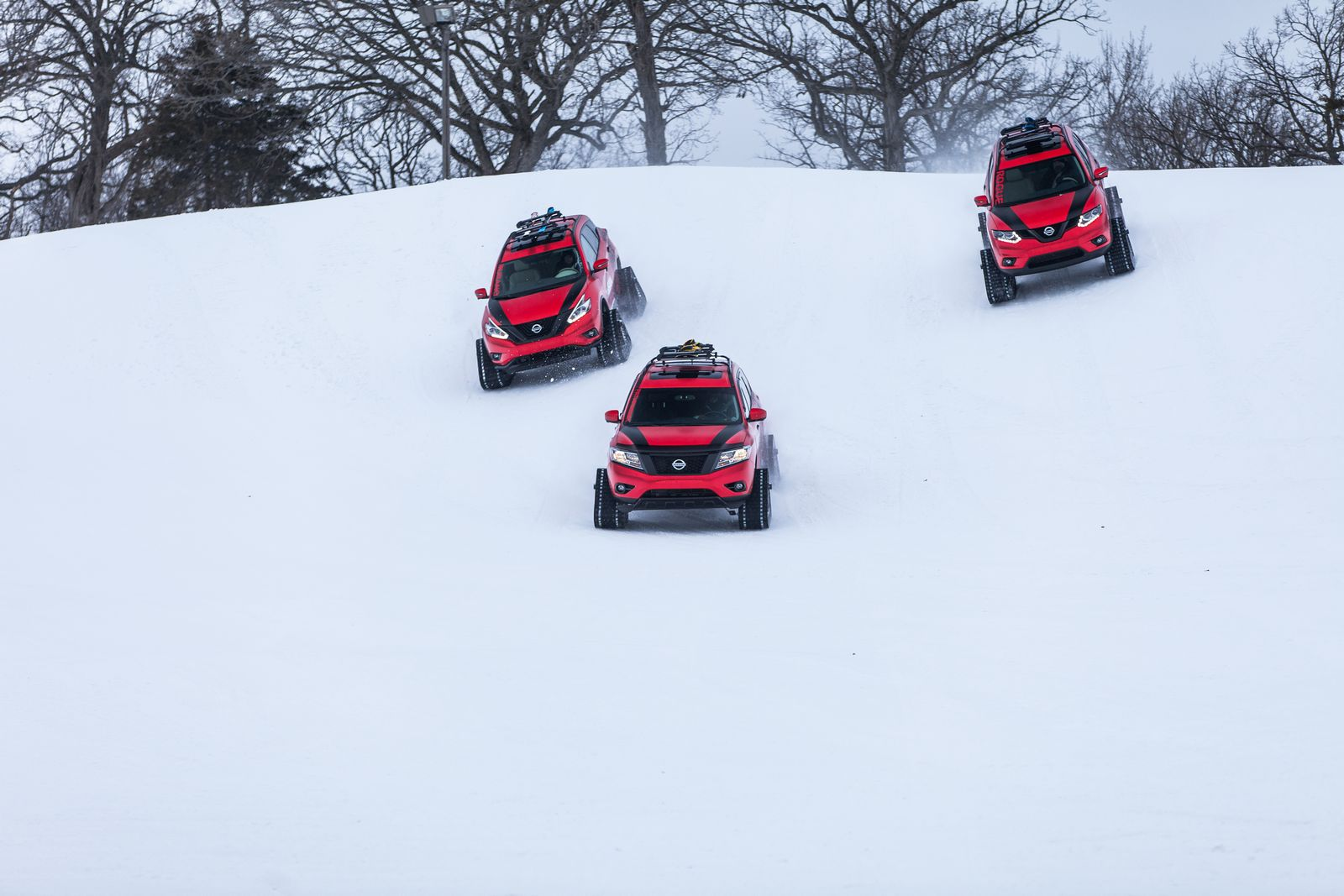 Nissan Pathfinder 2019 >> Nissan Pathfinder, Murano And Rogue Get Extreme Snow Transformations