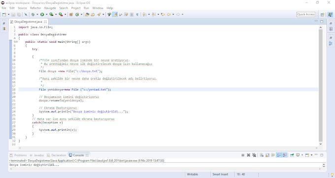 Java Dosya İsmi Değiştirme