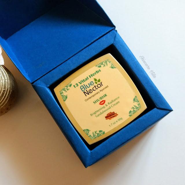 Blue Nectar Shubhr Ayurvedic Sandalwood Brightening and Radiance Cream Review