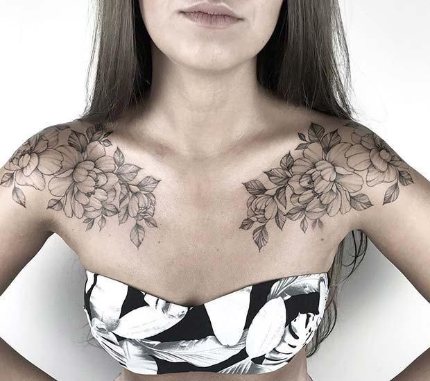 Breastplate Henna Chest Tattoo Best Tattoo Ideas