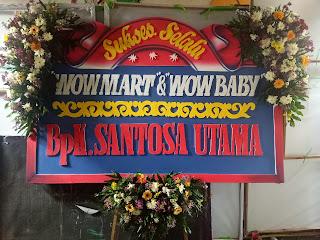 bunga papan dari bapak santoso utama