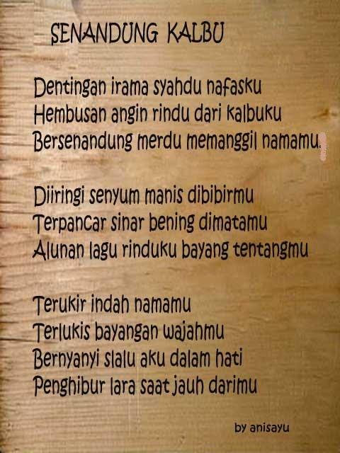 PUISI CINTA BY ANISAYU: Kumpulan Puisi Cinta Sedih Dan ...