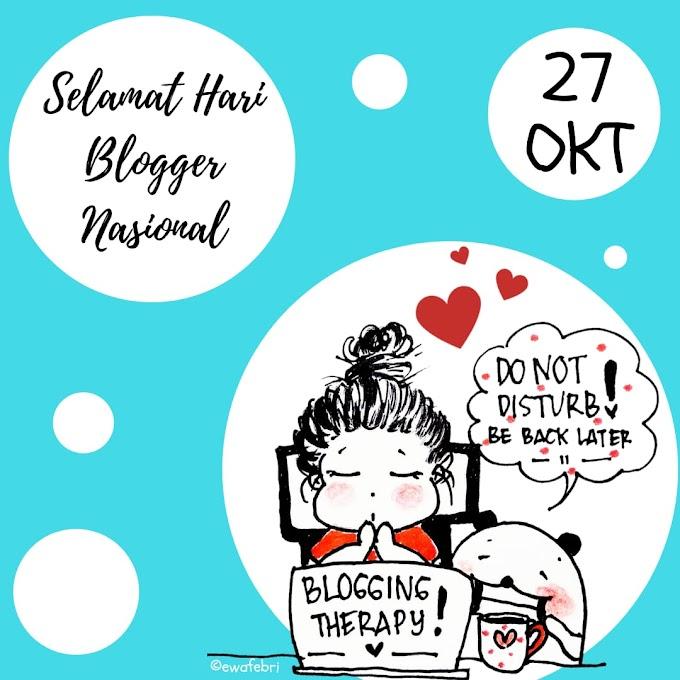 Aku menulis (Selamat Hari Blogger Nasional)