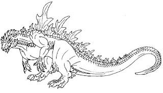 Malvorlagen Godzilla Zum Ausmalen