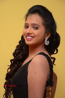 Actress Nakshatra Pictures in Black Long Dress at Miss South India 2016 Press Meet  0013.jpg