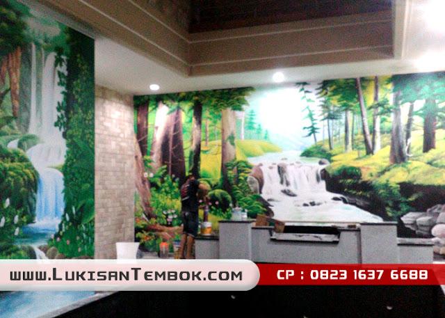 Lukisan dinding keren