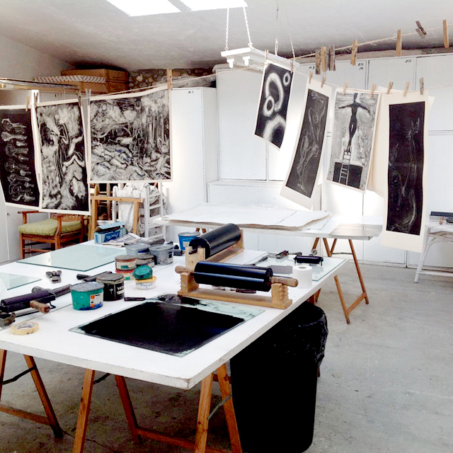 printmaking studio, workshop
