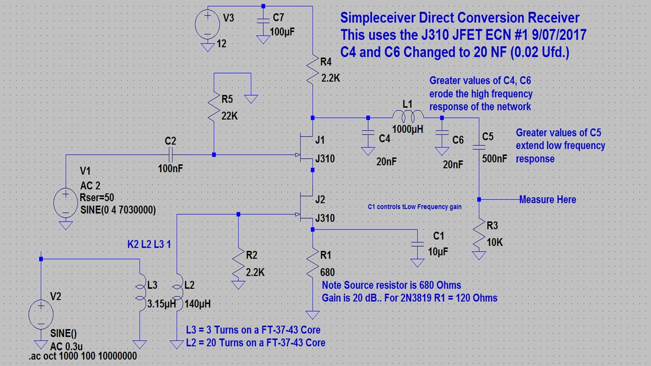 Simpleceiver Plus Fet Preamp With Tone Control By 2n3819 Pete N6qw